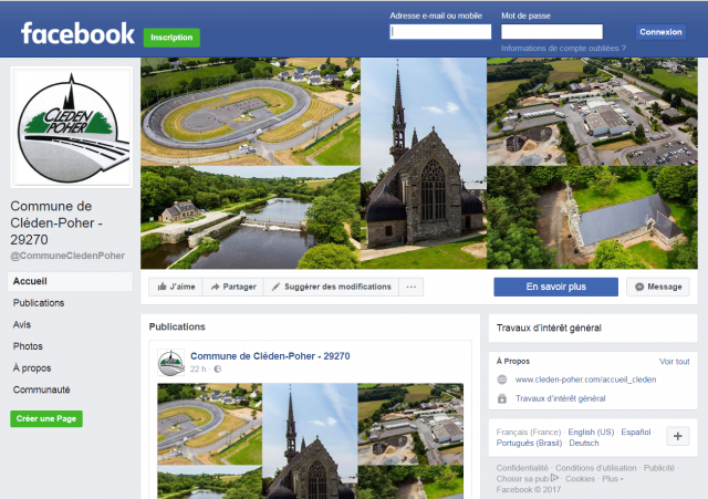 Page Facebook officielle pour la Commune